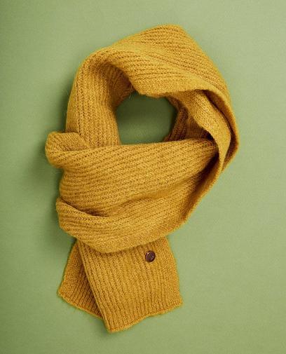 Mosterdgele sjaal